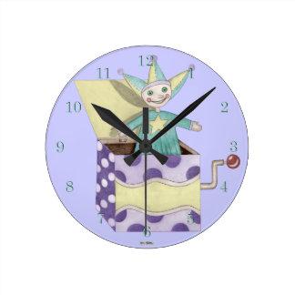 Jack in the Box - brinquedos tradicionais pastel Relógio Para Parede