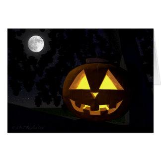 Cartão Jack O'Lantern e cartão do Dia das Bruxas da lua
