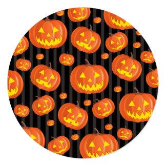 Jack O'Lanterns! Convite Quadrado 13.35 X 13.35cm