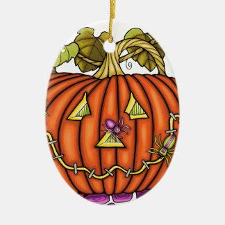 Jack Spidery O'Lantern Ornamento De Cerâmica