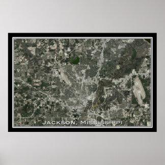 Jackson Mississippi da arte do satélite do espaço Poster