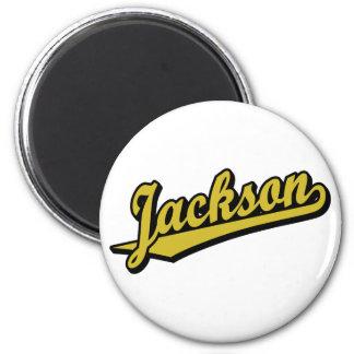 Jackson no ouro ima de geladeira