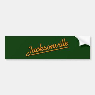 Jacksonville na laranja adesivo para carro