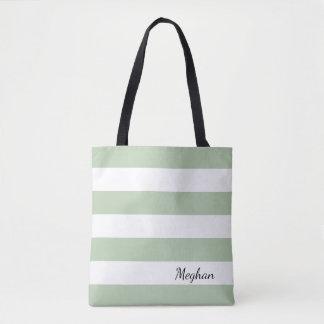 Jade esmaecida personalizado e o bolsa listrado