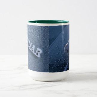 Jaguar gelado caneca de café em dois tons