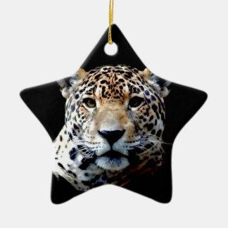 Jaguar Ornamento De Cerâmica Estrela
