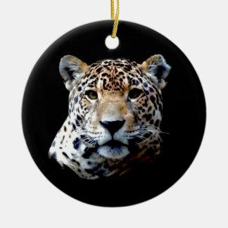 Jaguar Ornamento De Cerâmica Redondo