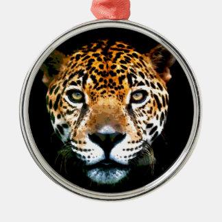 Jaguar Ornamento Redondo Cor Prata
