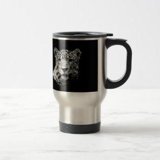 Jaguar preto & branco caneca térmica