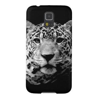 Jaguar preto & branco capinhas galaxy s5