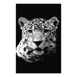 Jaguar preto & branco papelaria