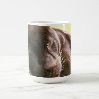 Jaguar preto caneca de café