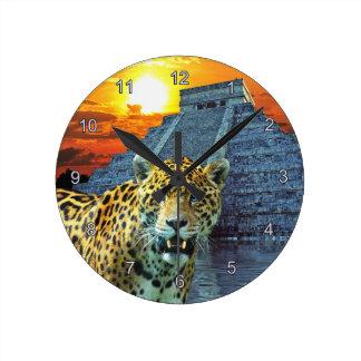 Jaguar & pulso de disparo de parede dos animais se relógios para paredes
