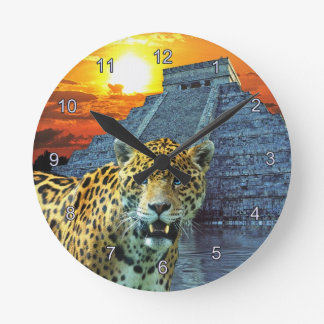 Jaguar & pulso de disparo de parede dos animais se relógio para parede