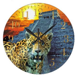 Jaguar & pulso de disparo de parede dos animais se relógios de pendurar
