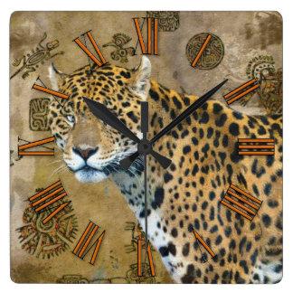 Jaguar & pulso de disparo de parede maia dos relógios de pendurar