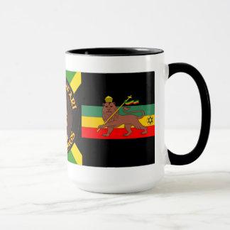 Jah Rastafari - leão de Judah - Rasta - caneca de