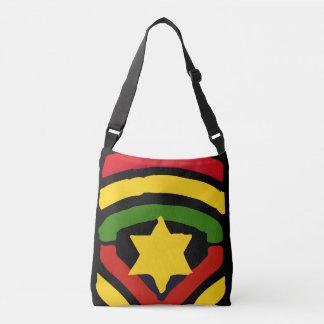 Jah Rastafari por todo o lado no saco para o Bolsas Carteiro