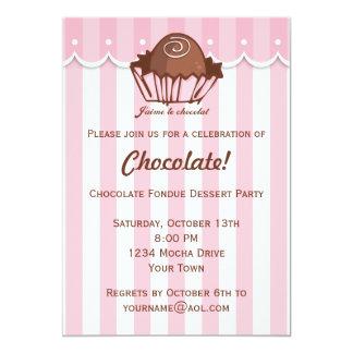 J'aime Chocolat Convite 12.7 X 17.78cm