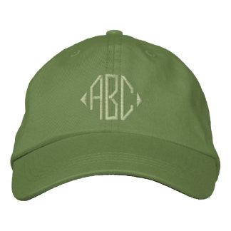 Jalepeno e monograma verde do cacto boné bordado