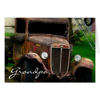 Jalopy antigo do caminhão do vintage cartão comemorativo