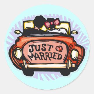 Jalopy do recem casados adesivo