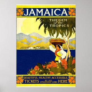 Jamaica, poster das viagens vintage