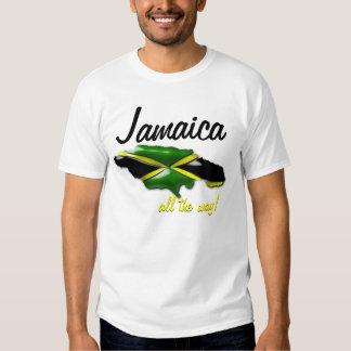 Jamaica todo o mapa da maneira da camisa de camiseta