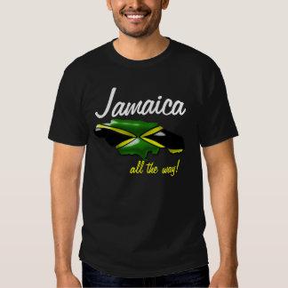 Jamaica todo o mapa da maneira da camisa de t-shirt