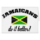 Jamaicano melhora cartões