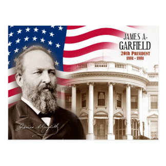 James A. Garfield - 20o presidente dos E.U. Cartao Postal