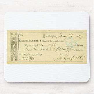James Garfield assinou a verificação desde o 25 de Mouse Pad