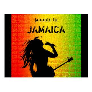 Jammin no cartão de Rasta da reggae de Jamaica