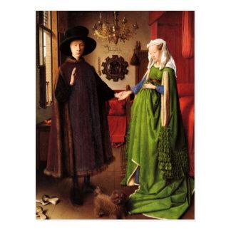 Jan van Eyck: Cartão do retrato de casamento de