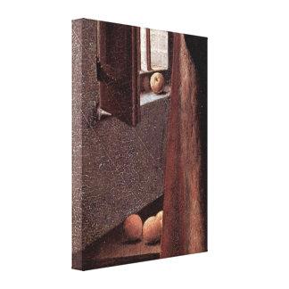 Jan van Eyck - Giovanni Arnolfini e esposa Impressão De Canvas Envolvida