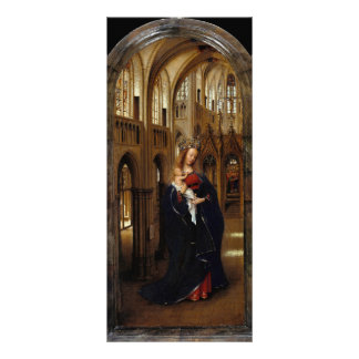 Janeiro camionete Eyck- Madonna na igreja Panfleto Informativo Personalizado