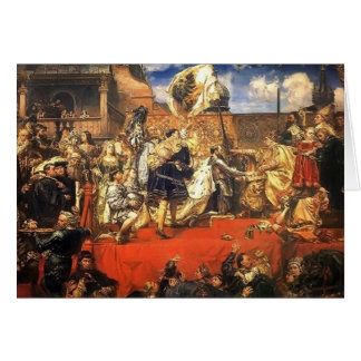 Janeiro Matejko- a homenagem prussiano Cartão