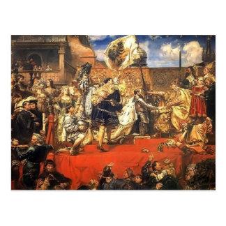Janeiro Matejko- a homenagem prussiano Cartão Postal