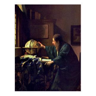 Janeiro Vermeer, o cartão do astrónomo