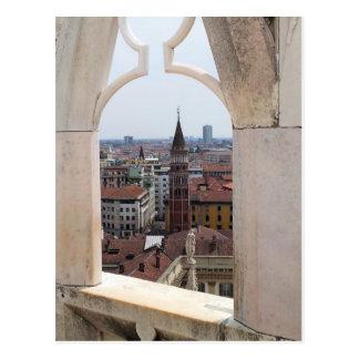 Janela ao cartão do mundo - (do domo de Milão)