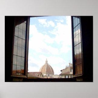 Janela ao poster de Florença