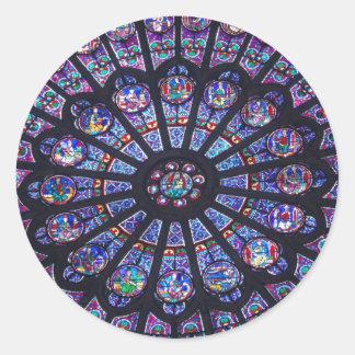 Janela cor-de-rosa de Notre Dame Adesivo