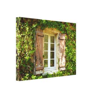 Janela da casa da quinta & impressão franceses das