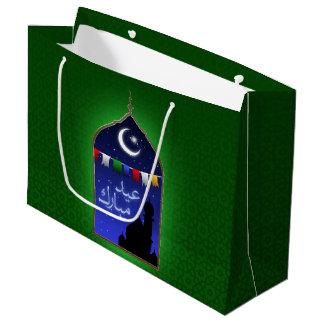Janela de Ramadan Eid - grande saco do presente Sacola Para Presentes Grande