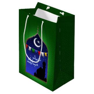 Janela de Ramadan Eid - saco médio do presente Sacola Para Presentes Média
