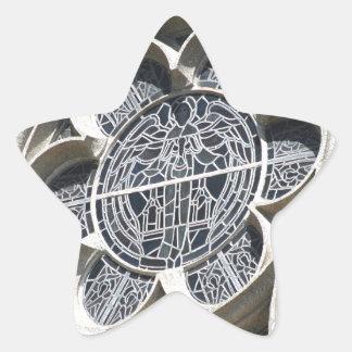 Janela de vitral adesito estrela