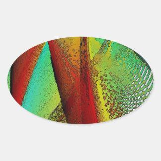 Janela de vitral adesivo oval