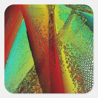 Janela de vitral adesivo quadrado