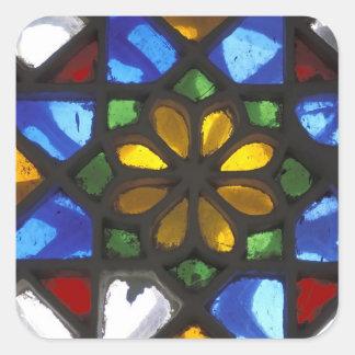 Janela de vitral dentro do nacional adesivo quadrado