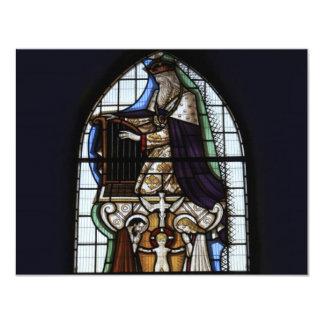 Janela de vitral religiosa convite 10.79 x 13.97cm